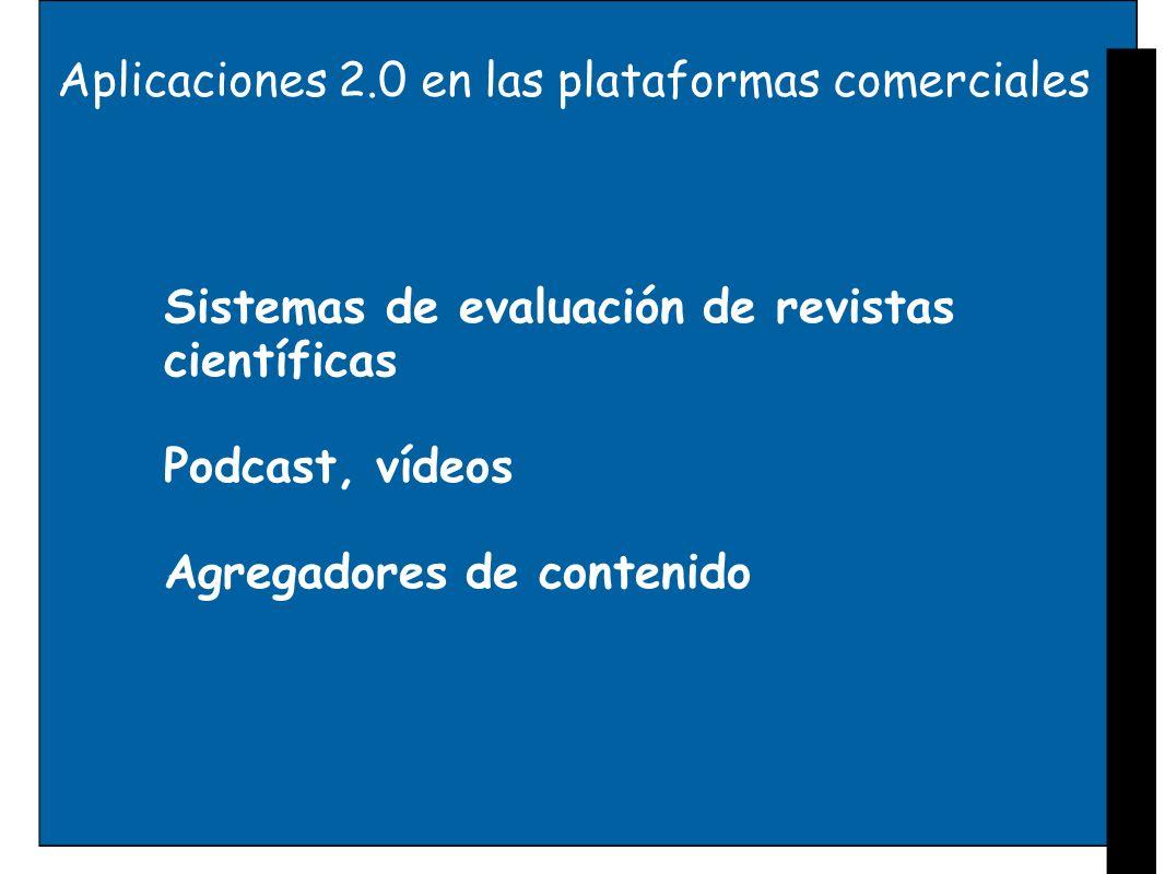Aplicaciones 2.0 en las plataformas comerciales