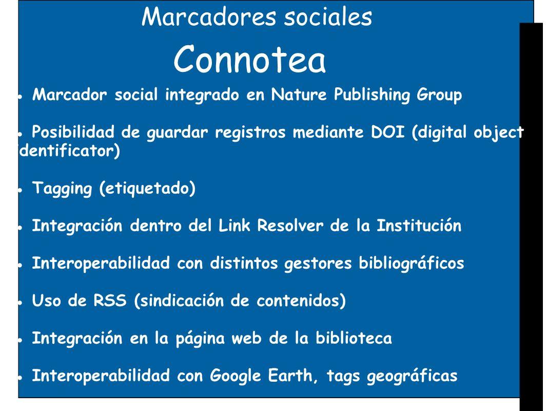 Connotea Marcadores sociales