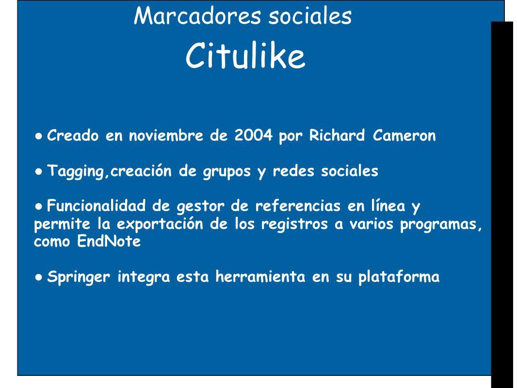 Citulike Marcadores sociales