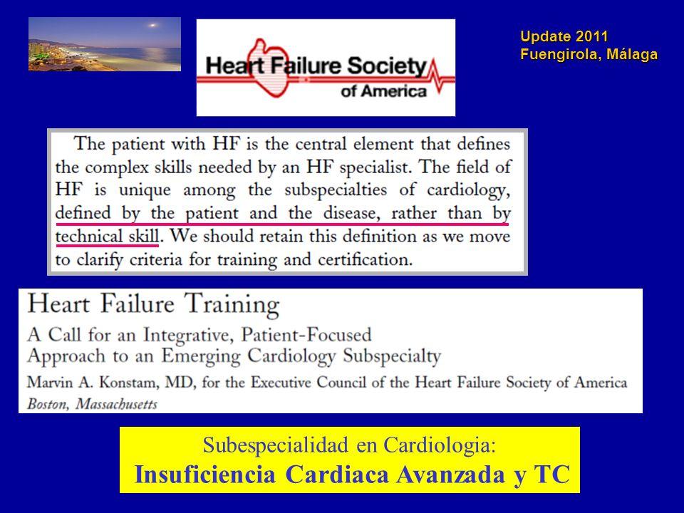 Subespecialidad en Cardiologia: Insuficiencia Cardiaca Avanzada y TC