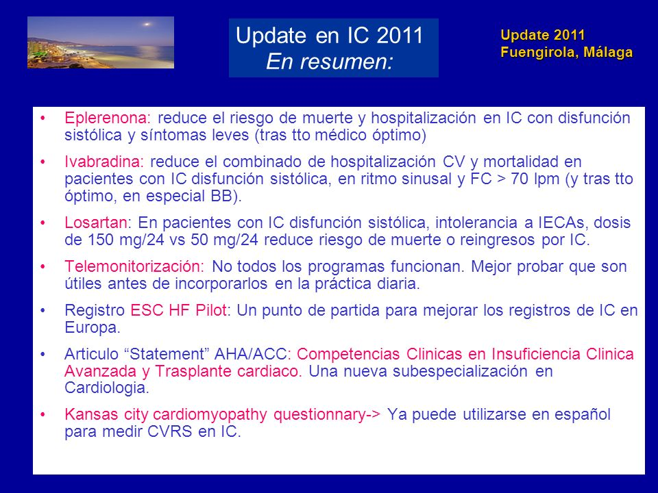 Update en IC 2011 En resumen:
