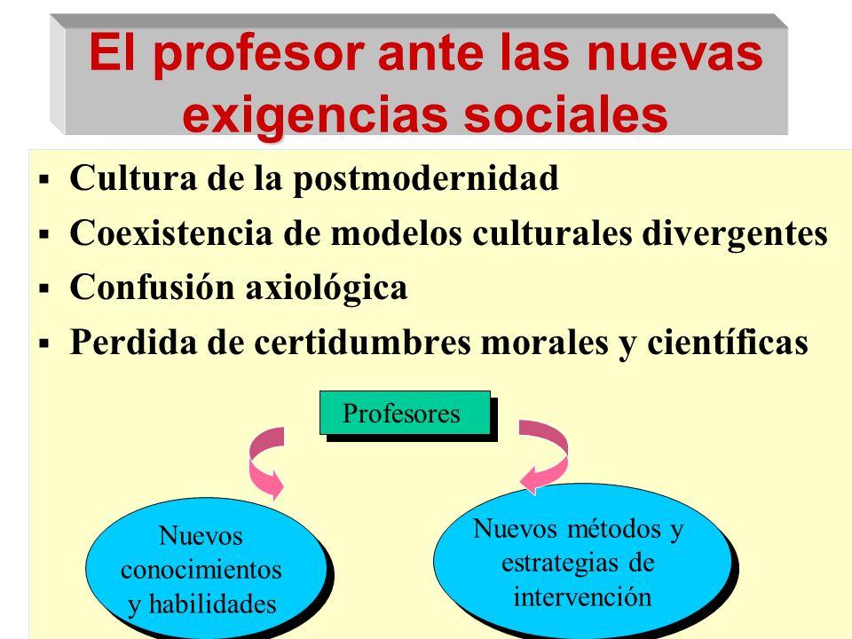 El profesor ante las nuevas exigencias sociales