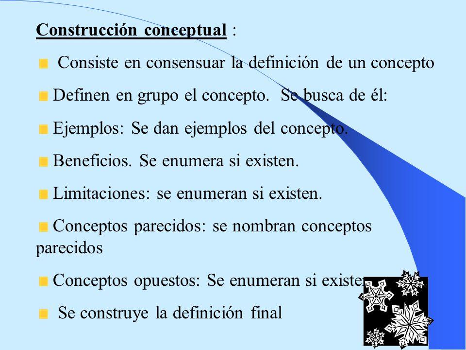 Construcción conceptual :