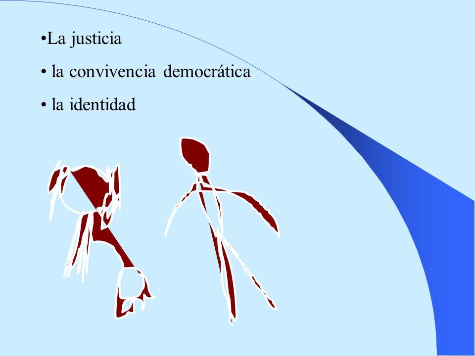 La justicia la convivencia democrática la identidad