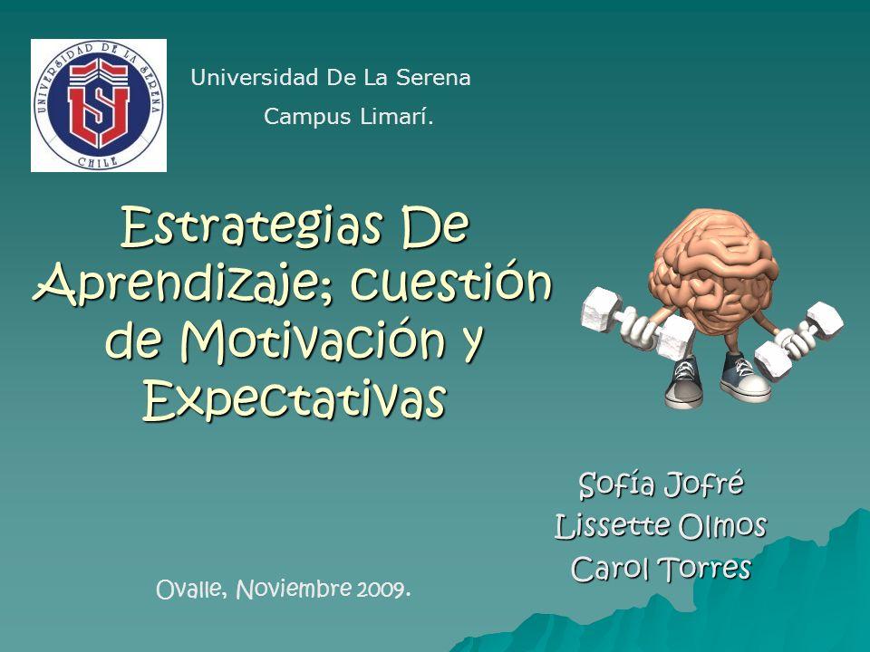 Estrategias De Aprendizaje; cuestión de Motivación y Expectativas
