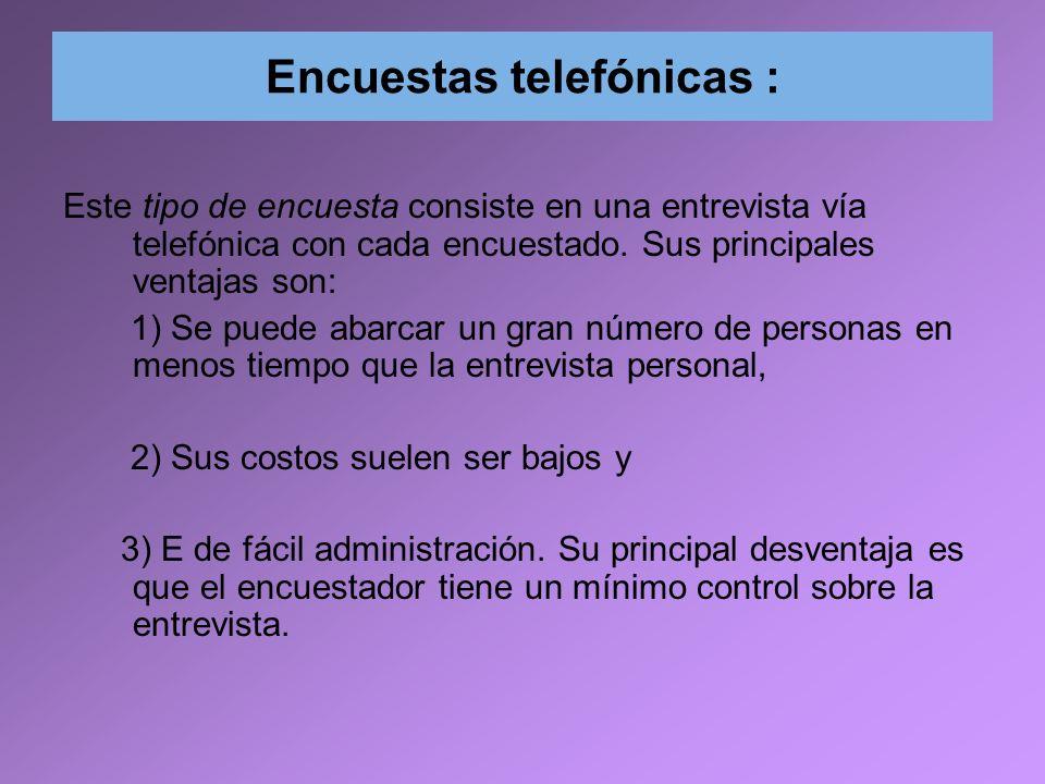 Encuestas telefónicas :
