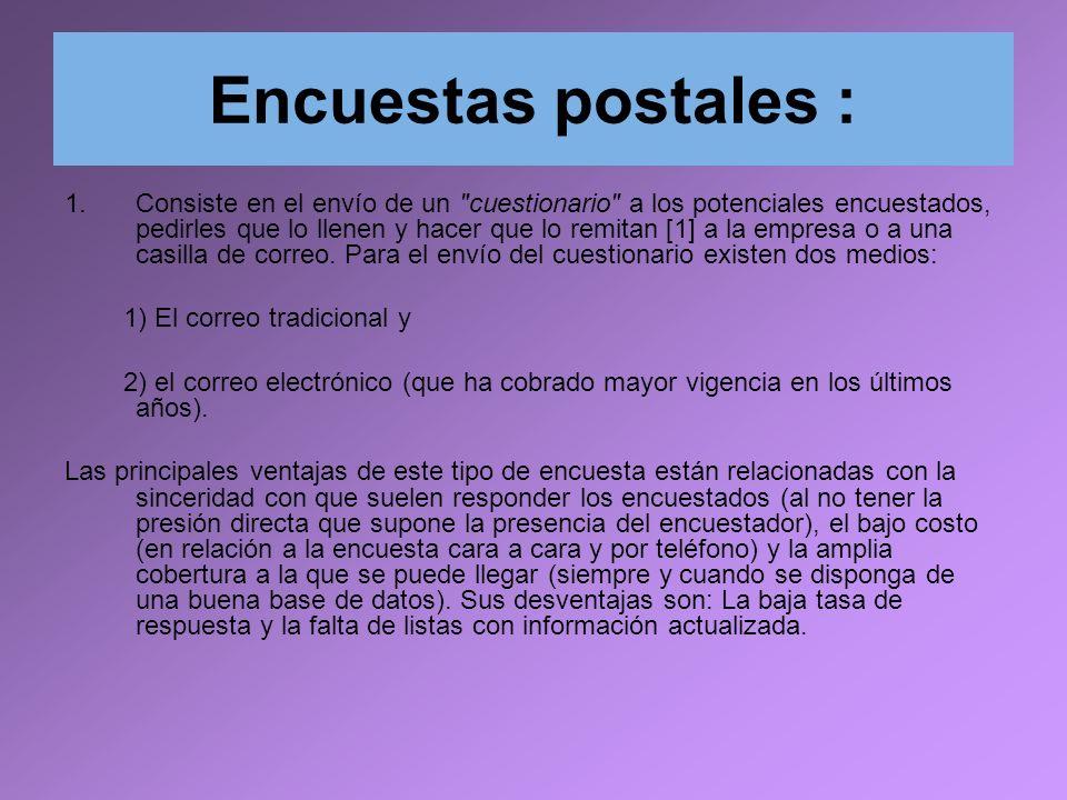 Encuestas postales :