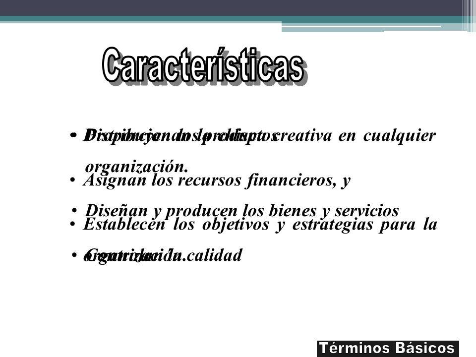 Características Términos Básicos