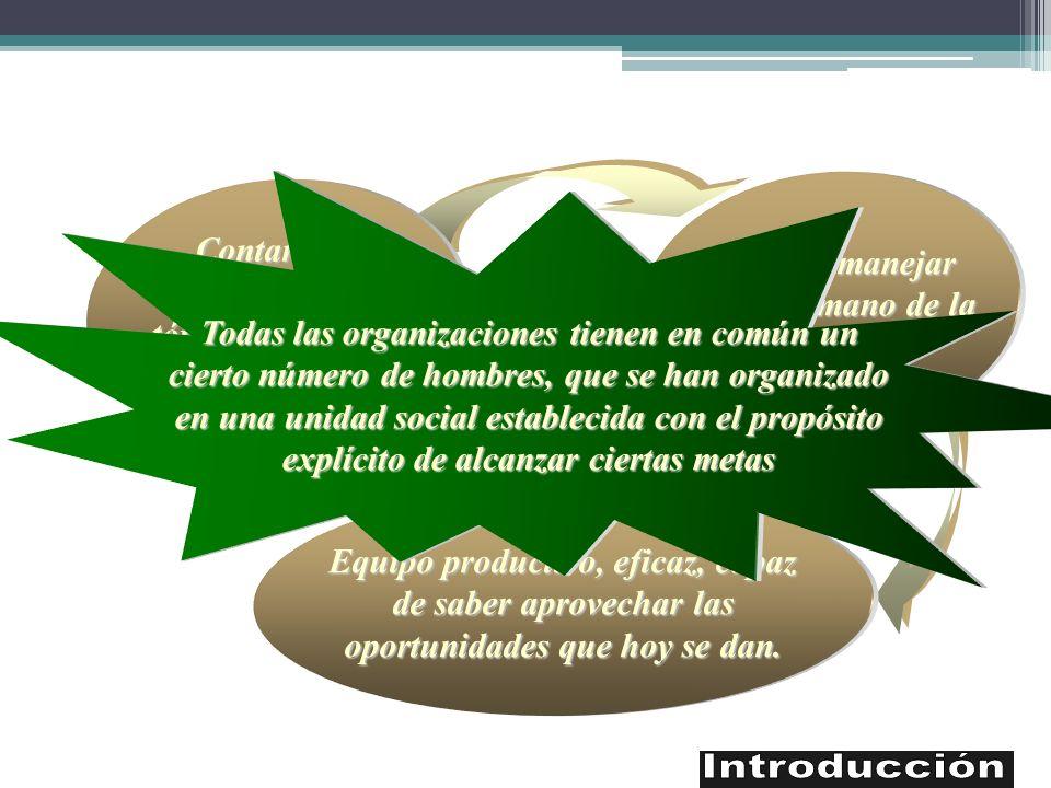 También manejar factor humano de la empresa Contar con conocimientos
