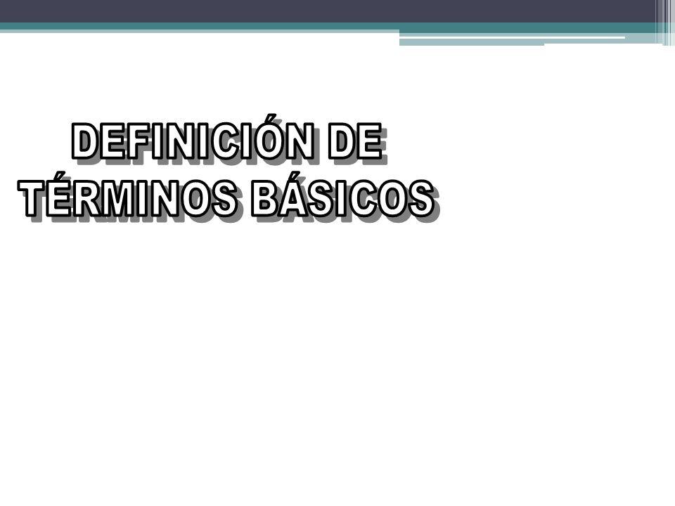 DEFINICIÓN DE TÉRMINOS BÁSICOS