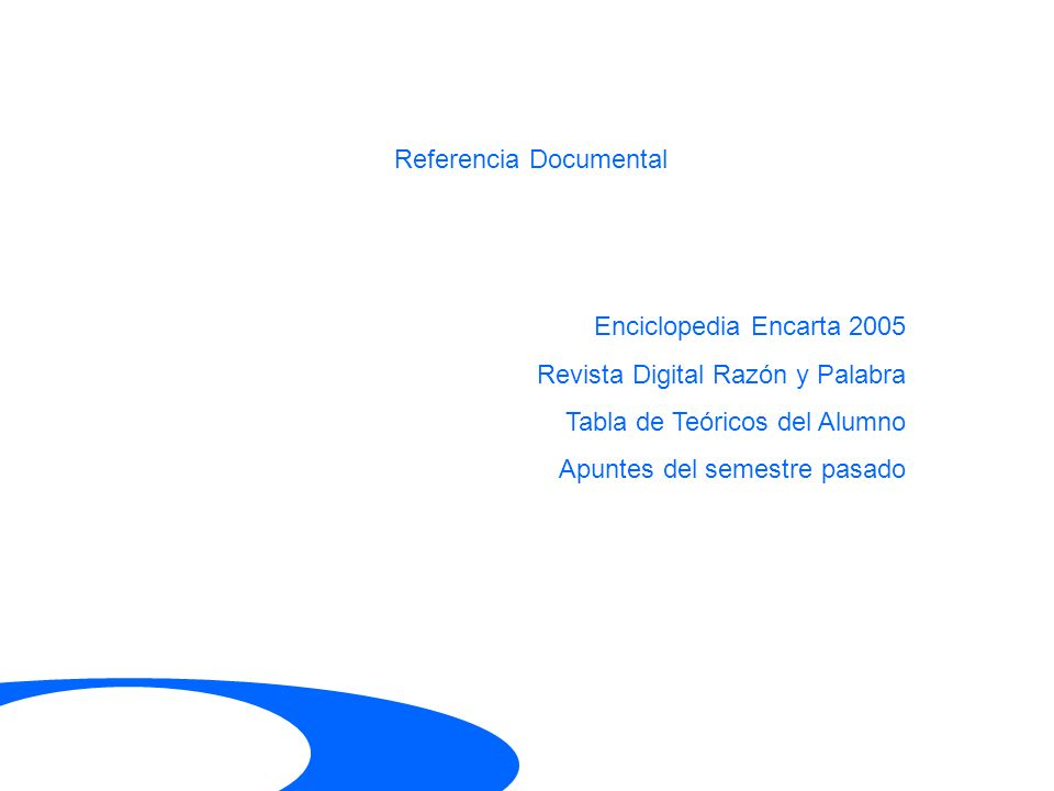 Referencia Documental