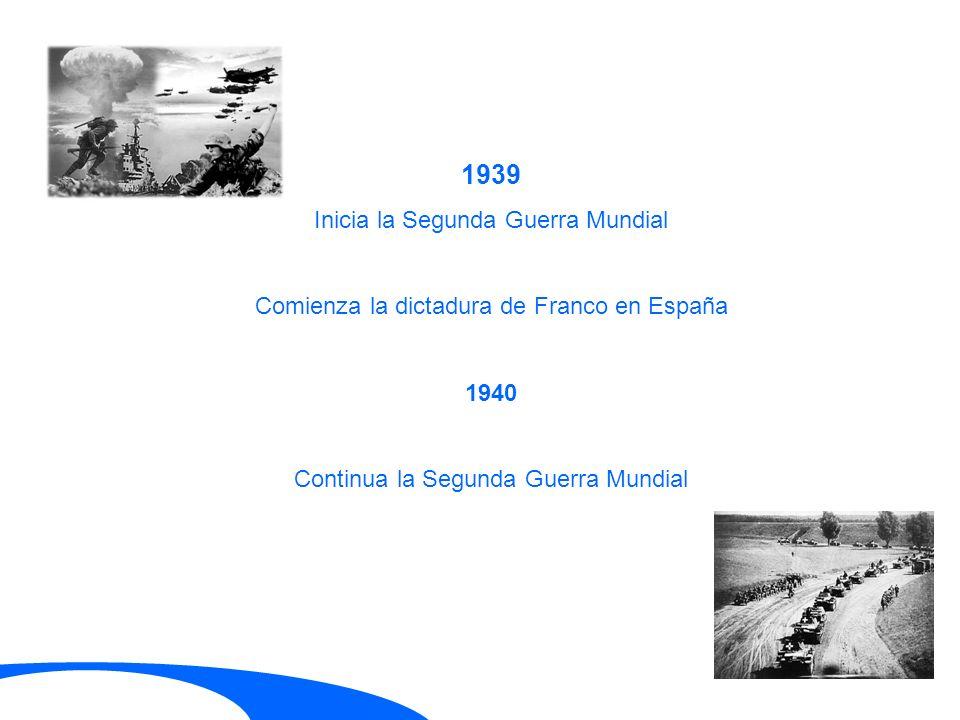 1939 Inicia la Segunda Guerra Mundial