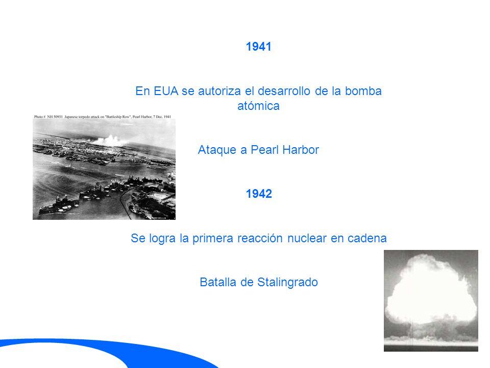 En EUA se autoriza el desarrollo de la bomba atómica