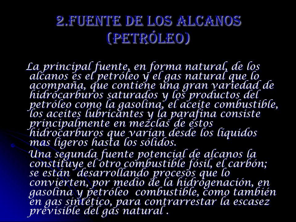 2.Fuente de los Alcanos (Petróleo)