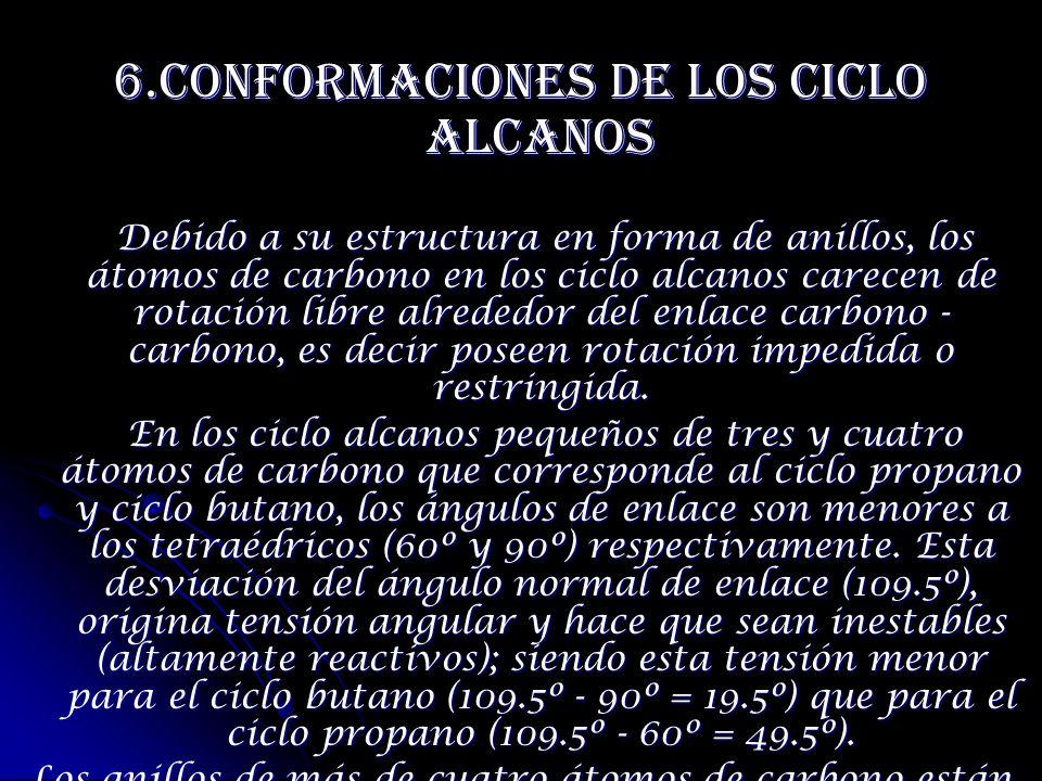 6.Conformaciones De Los Ciclo Alcanos
