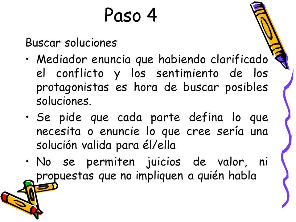 Paso 4 Buscar soluciones