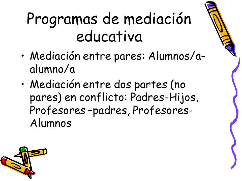Programas de mediación educativa