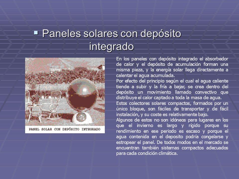 Paneles solares con depósito integrado