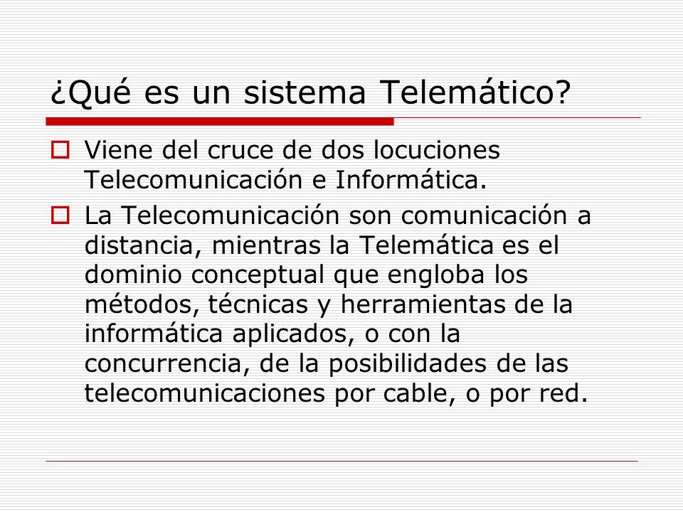 ¿Qué es un sistema Telemático