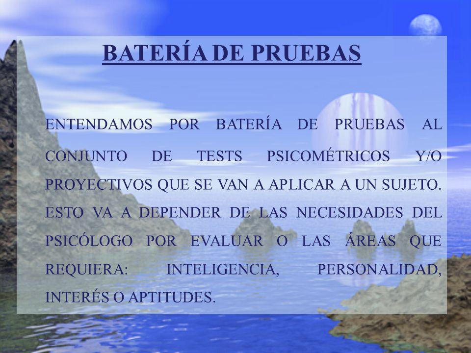 BATERÍA DE PRUEBAS