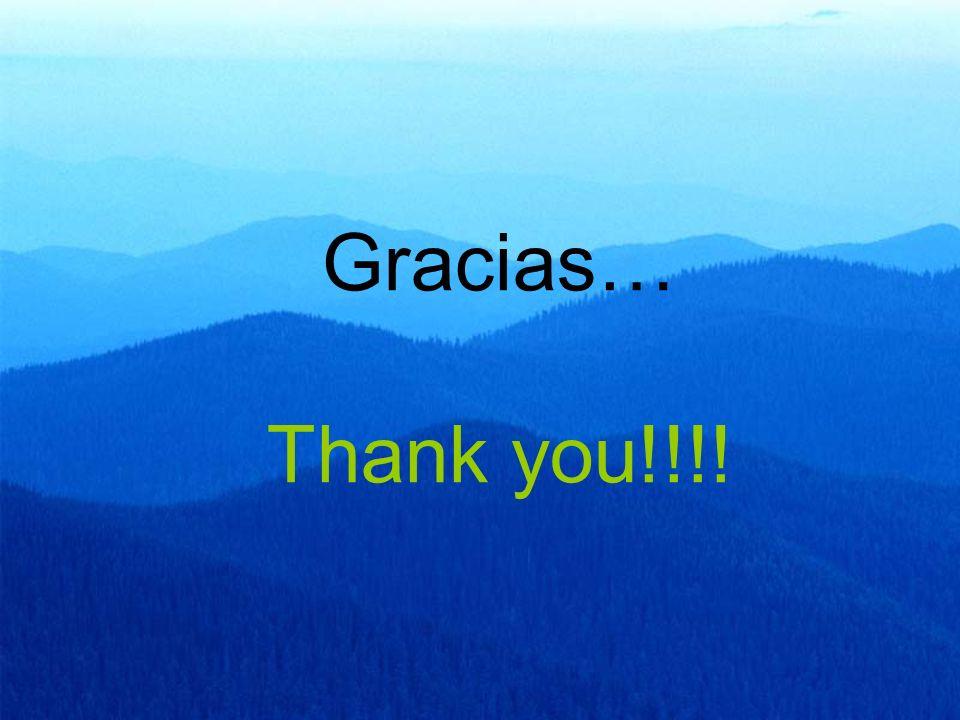 Gracias… Thank you!!!!