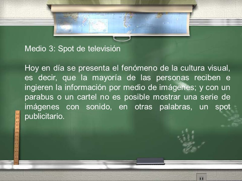 Medio 3: Spot de televisión
