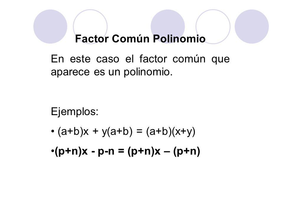 Factor Común Polinomio