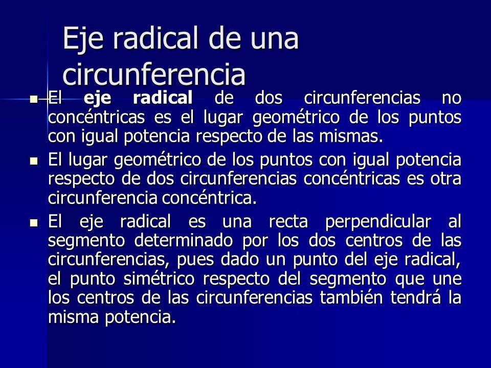 Eje radical de una circunferencia
