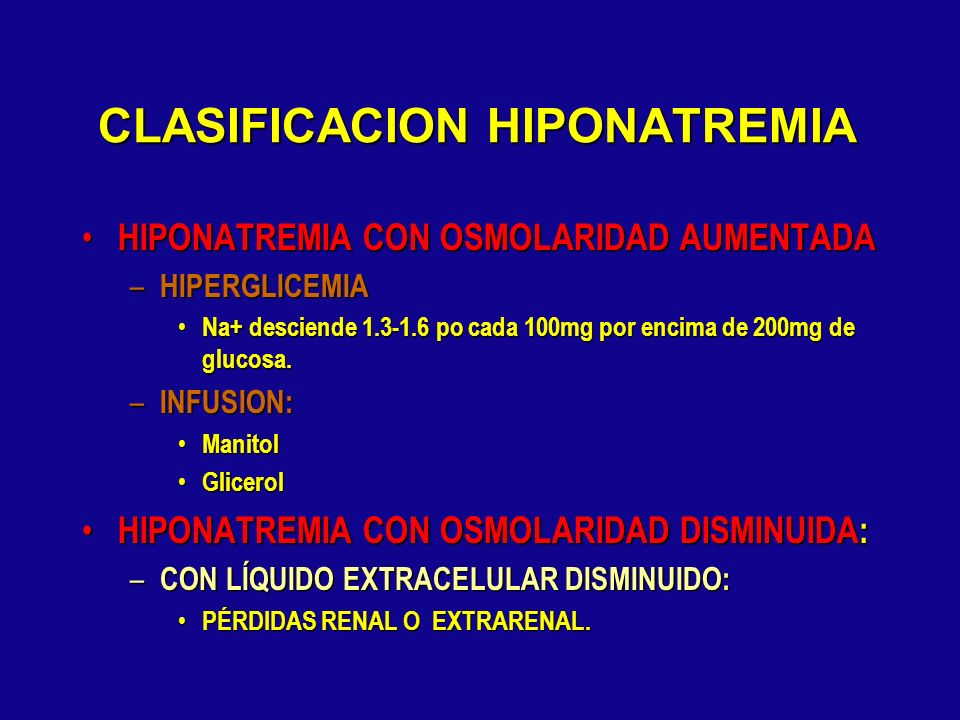 CLASIFICACION HIPONATREMIA