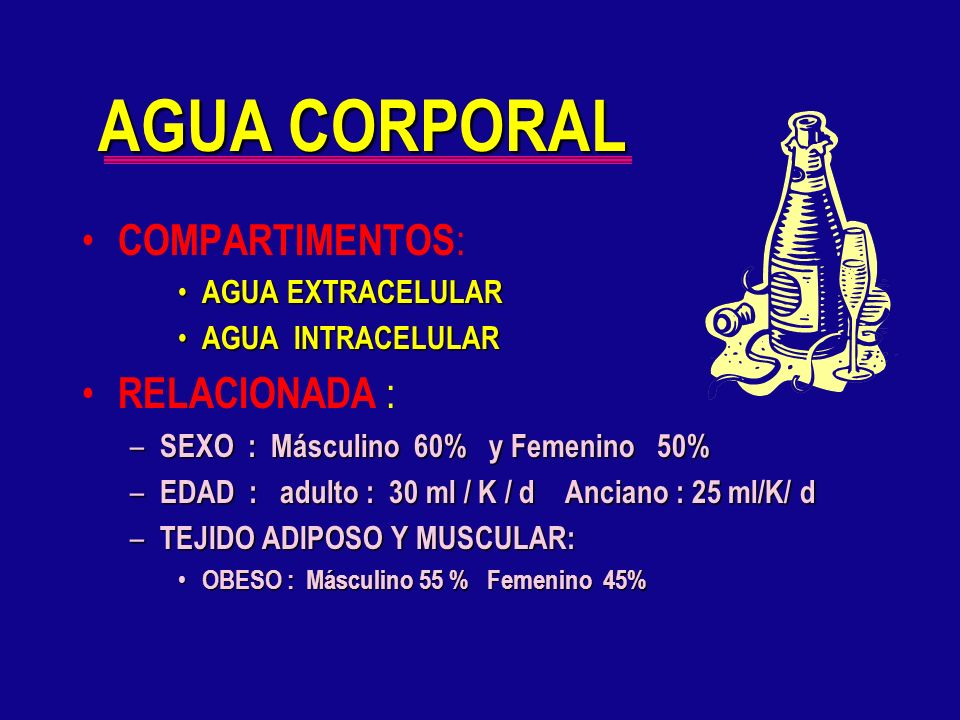 AGUA CORPORAL COMPARTIMENTOS: RELACIONADA : AGUA EXTRACELULAR
