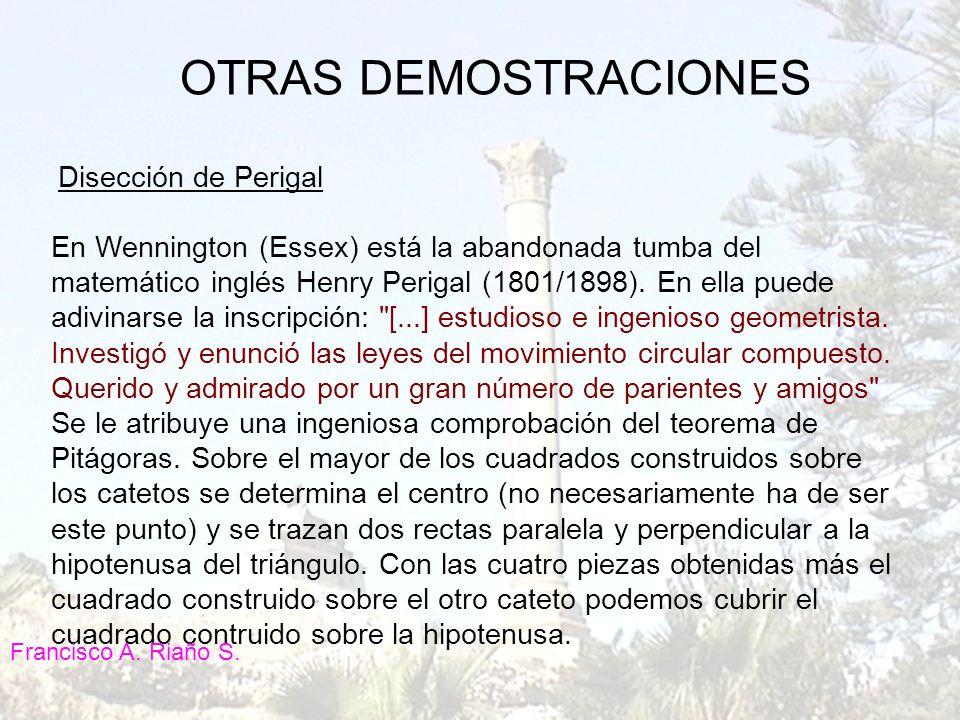 OTRAS DEMOSTRACIONES Disección de Perigal.