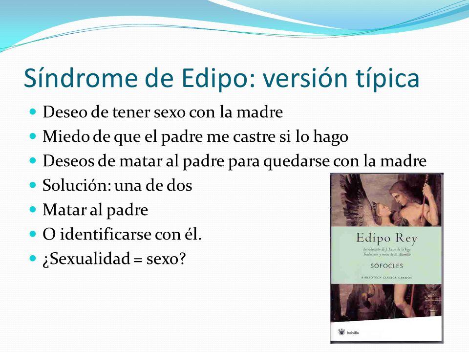 Síndrome de Edipo: versión típica