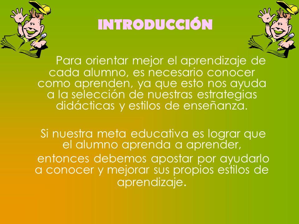 Si nuestra meta educativa es lograr que el alumno aprenda a aprender,