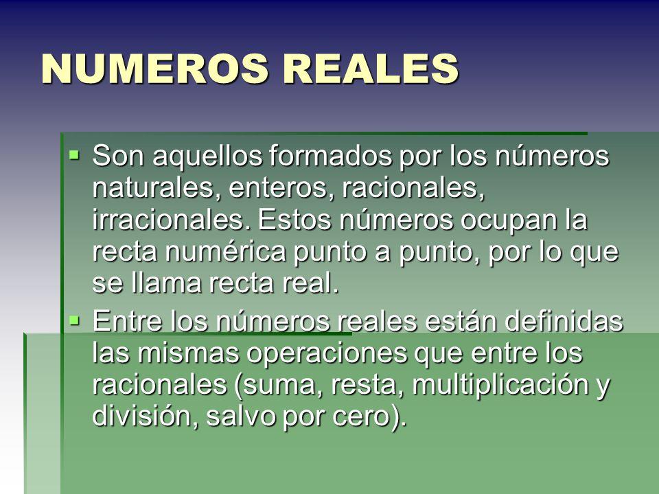NUMEROS REALES
