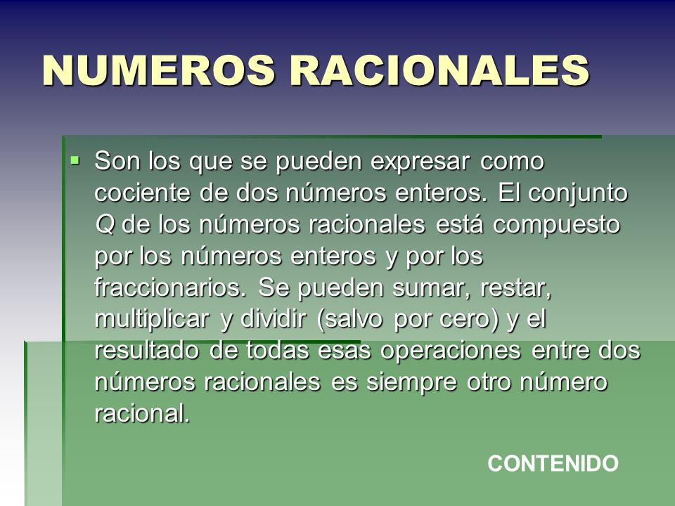 NUMEROS RACIONALES