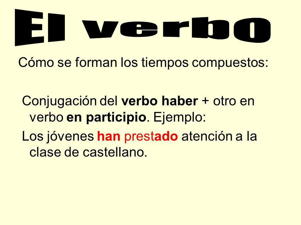 El verbo Cómo se forman los tiempos compuestos: