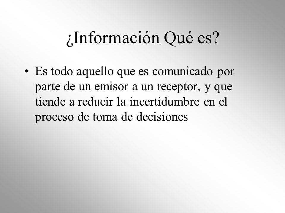 ¿Información Qué es