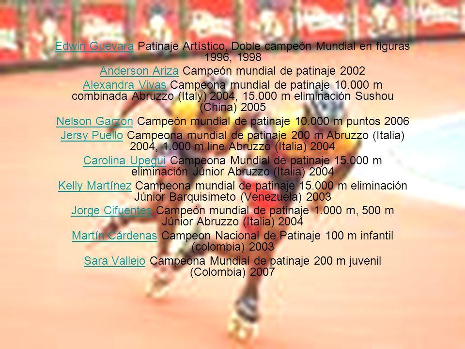 Anderson Ariza Campeón mundial de patinaje 2002