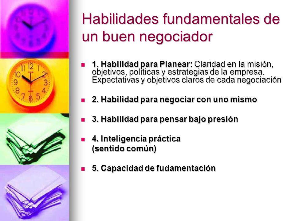 Habilidades fundamentales de un buen negociador