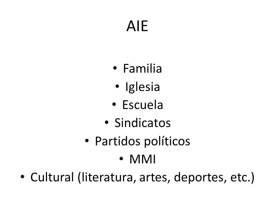 Cultural (literatura, artes, deportes, etc.)