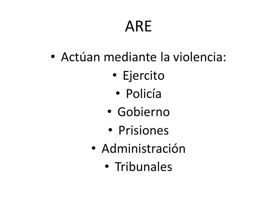 Actúan mediante la violencia: