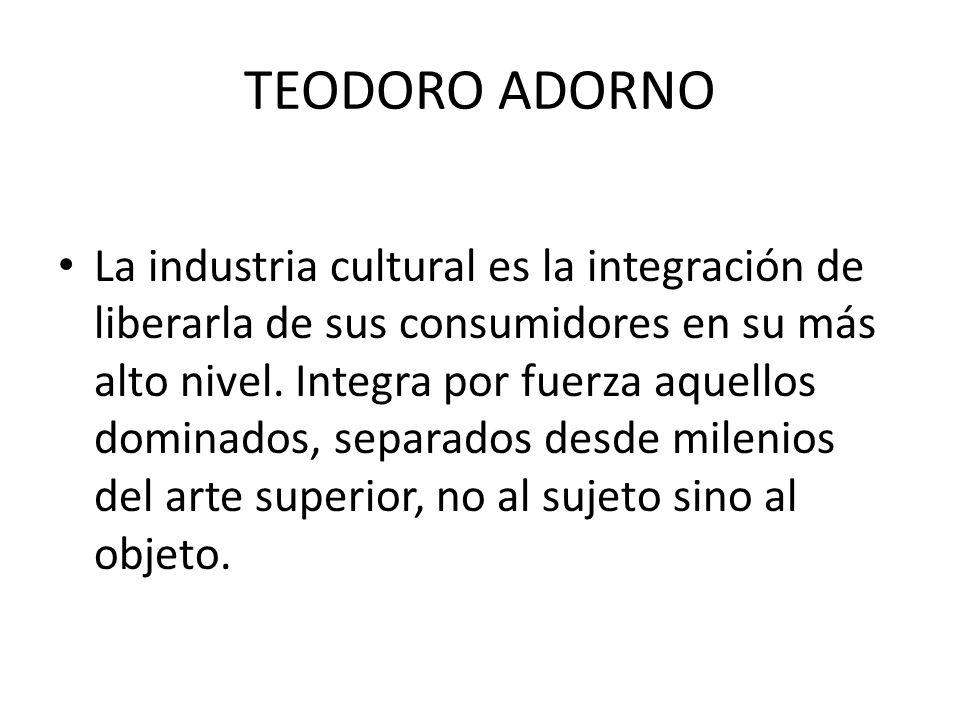 TEODORO ADORNO