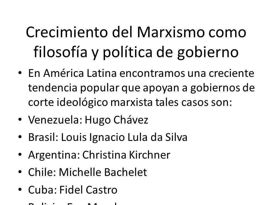 Crecimiento del Marxismo como filosofía y política de gobierno