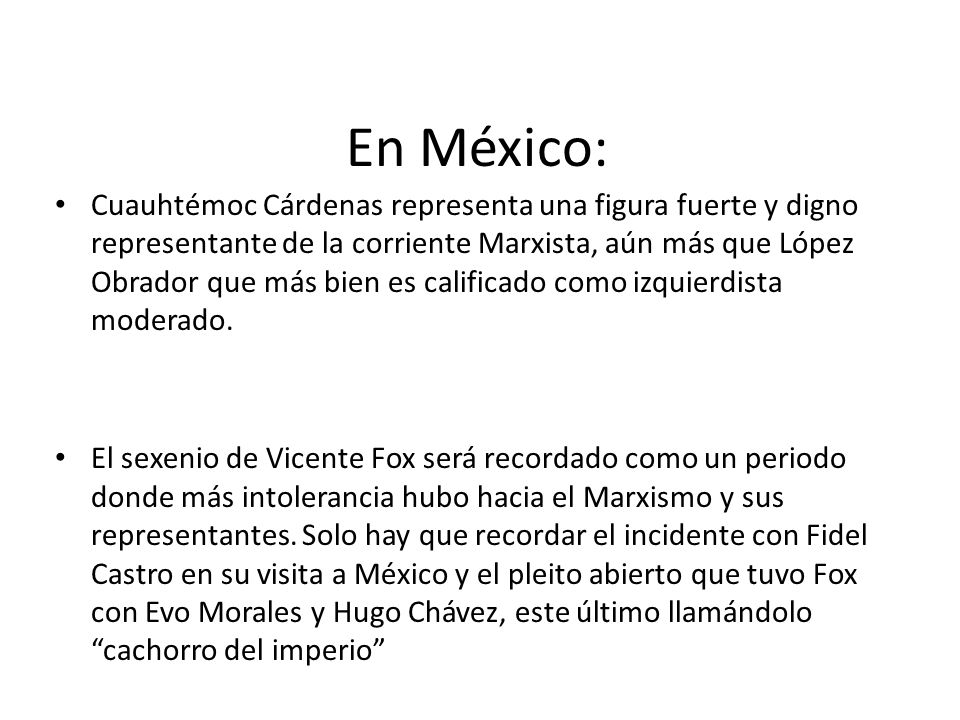 En México: