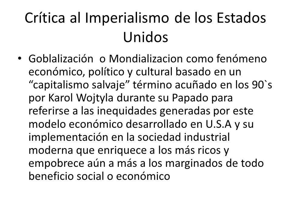 Crítica al Imperialismo de los Estados Unidos