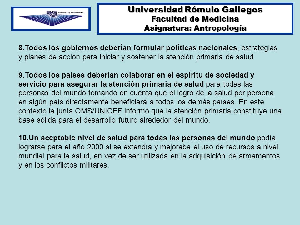 Universidad Rómulo Gallegos Asignatura: Antropología