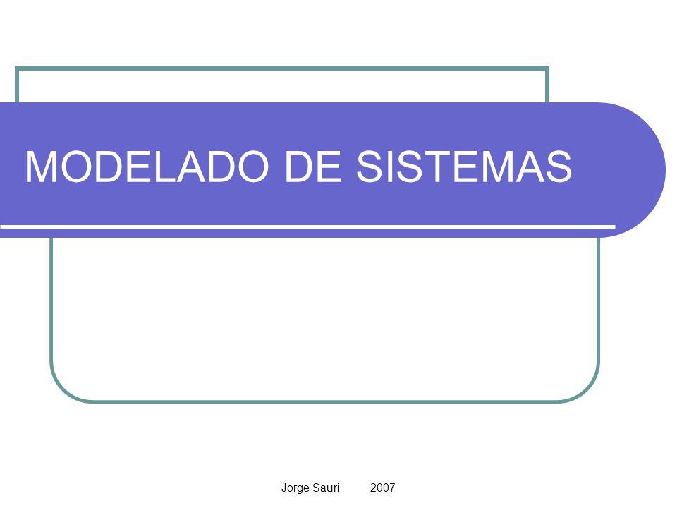 MODELADO DE SISTEMAS Jorge Sauri 2007