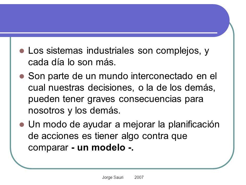Los sistemas industriales son complejos, y cada día lo son más.