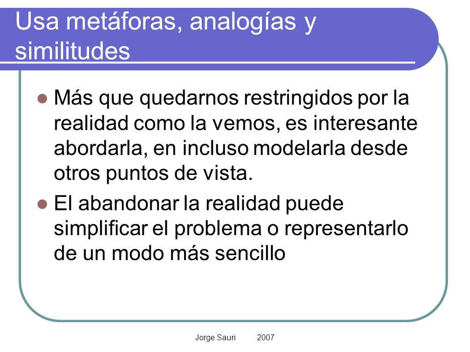Usa metáforas, analogías y similitudes