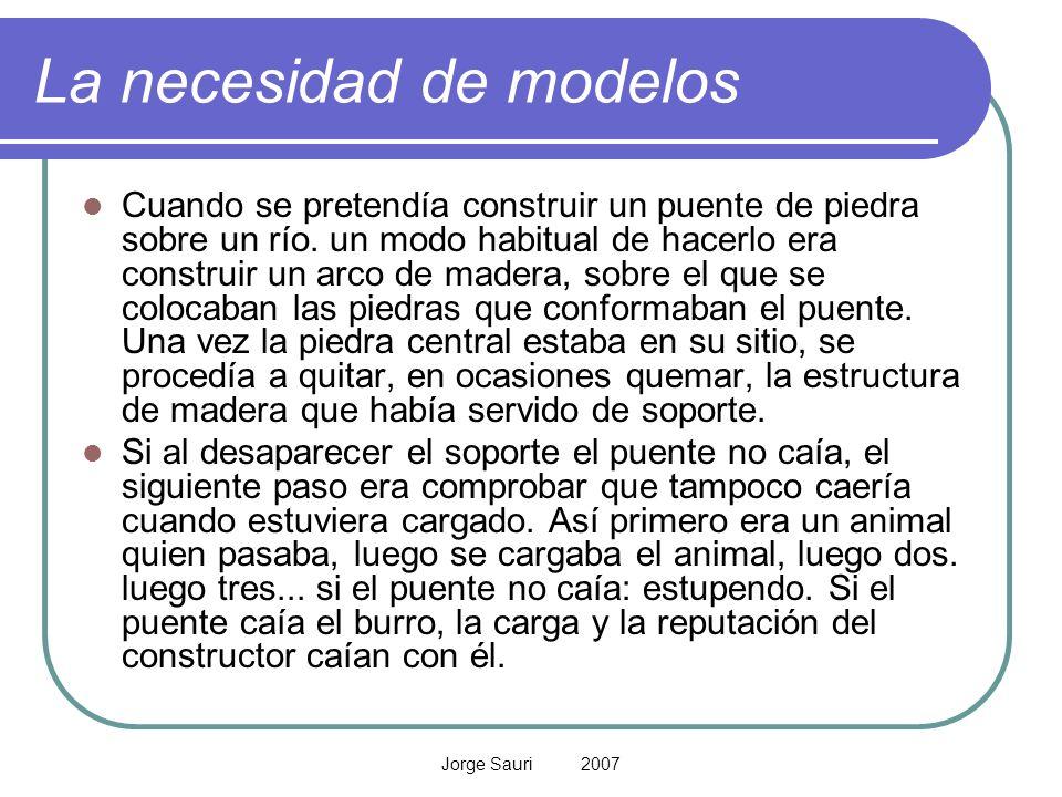 La necesidad de modelos